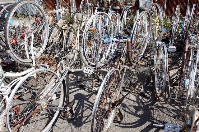 不要になった自転車のイメージ写真