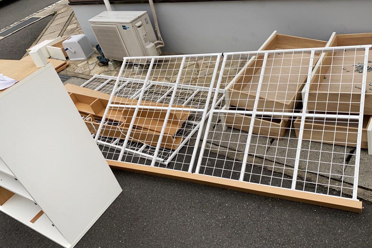 京都市西京区にて回収した二段ベッドの写真