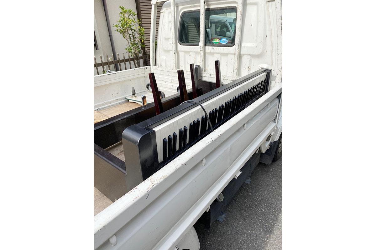 京都府城陽市にて回収した電子ピアノの写真