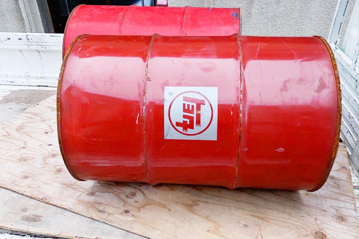 大阪市平野区にて回収したドラム缶の写真
