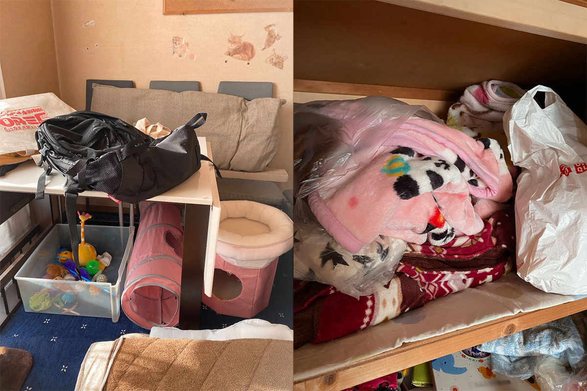 大阪市旭区にて回収したマンション一室分の不用品の写真