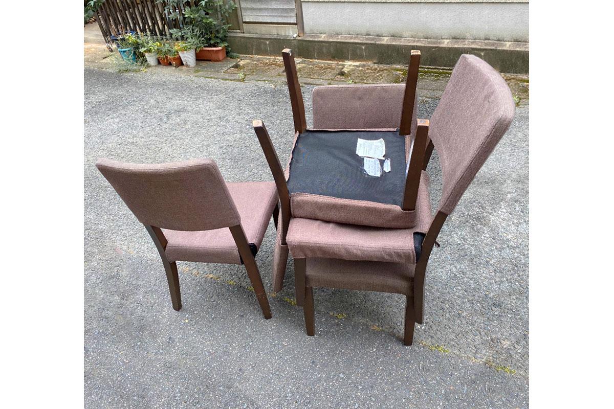 京都市山科区にて回収した椅子の写真