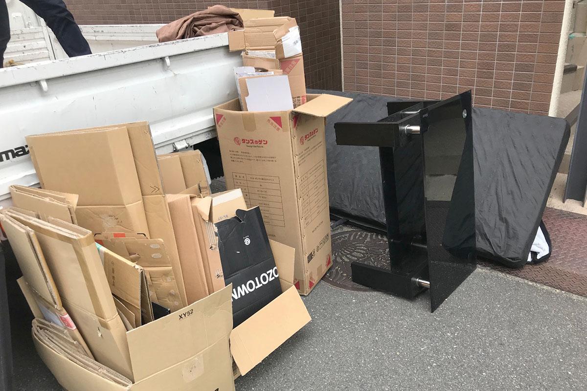 大阪府枚方市にて回収した引越し不用品の写真