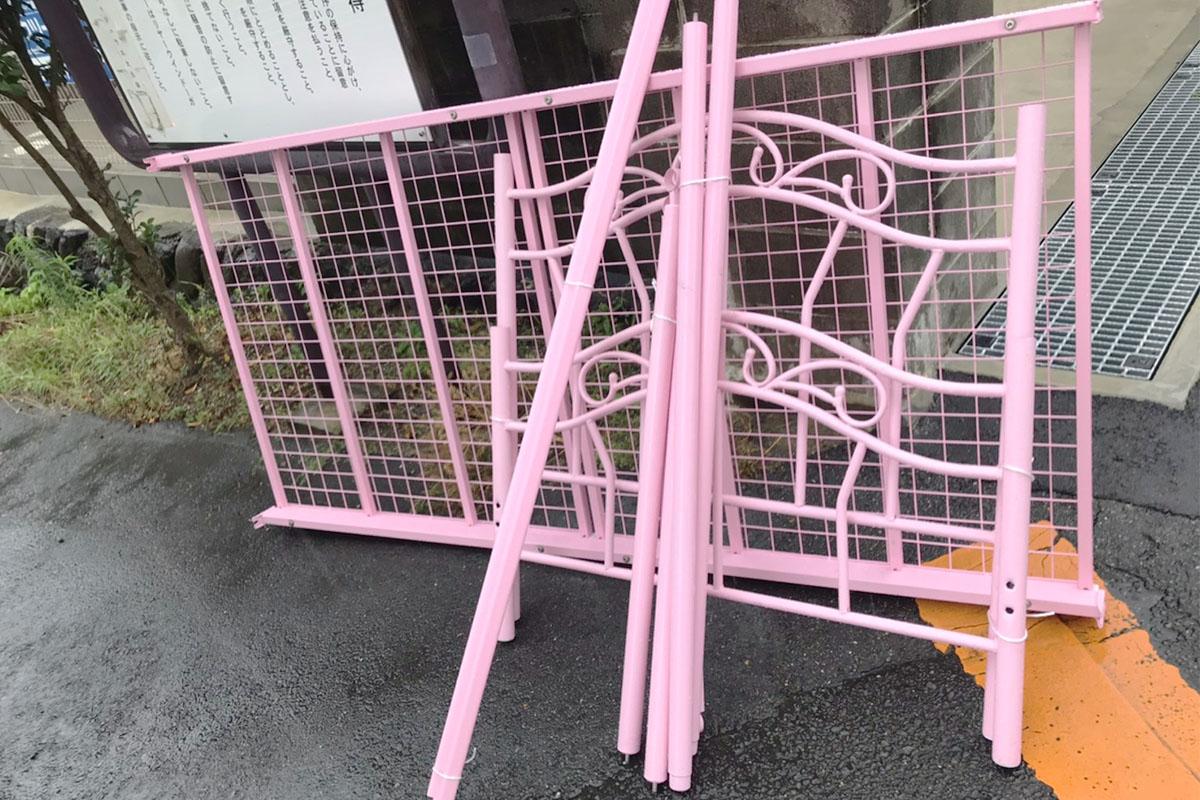 京都府宇治市にて回収したベッドフレームの写真