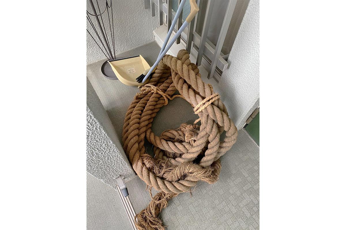 奈良県奈良市にて回収した縄の写真