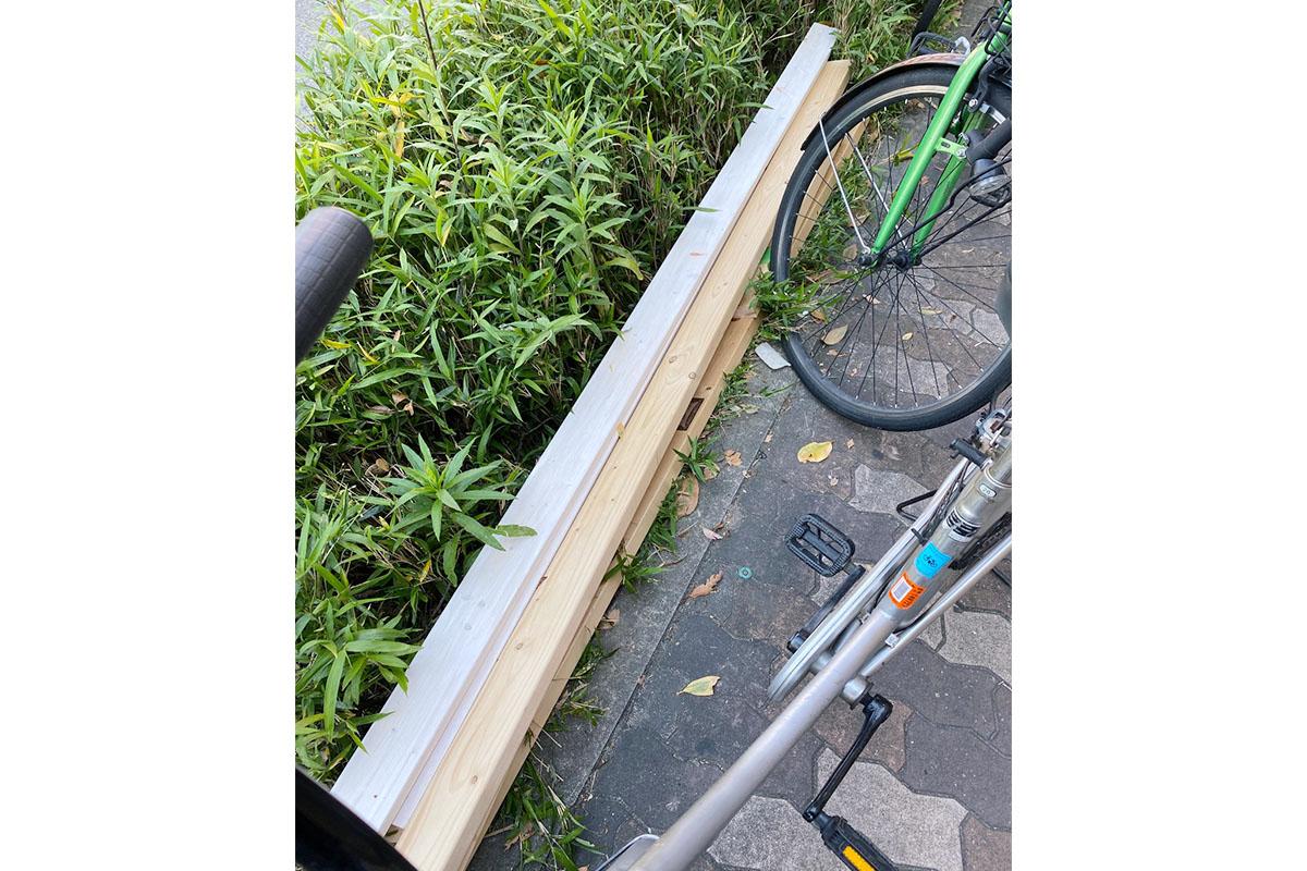 大阪市北区にて回収した木材の写真