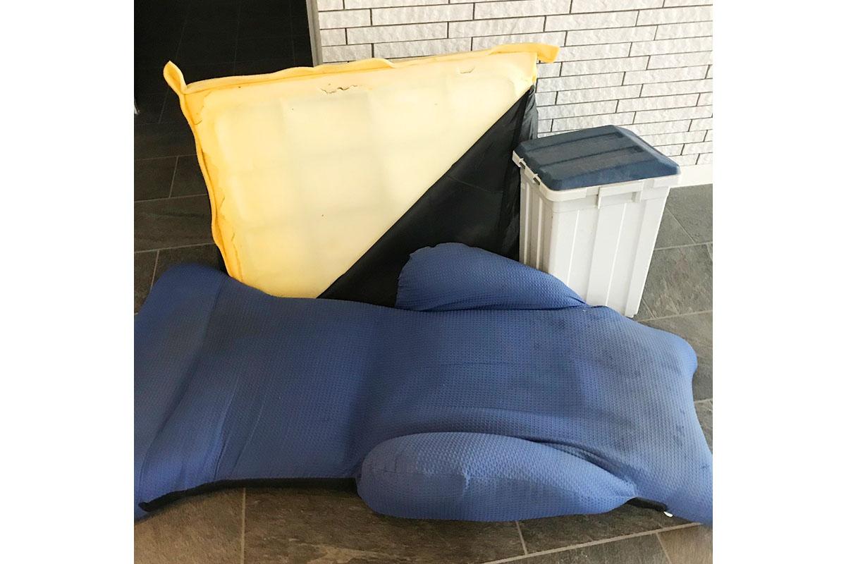 大阪市福島区にて回収した座椅子の写真