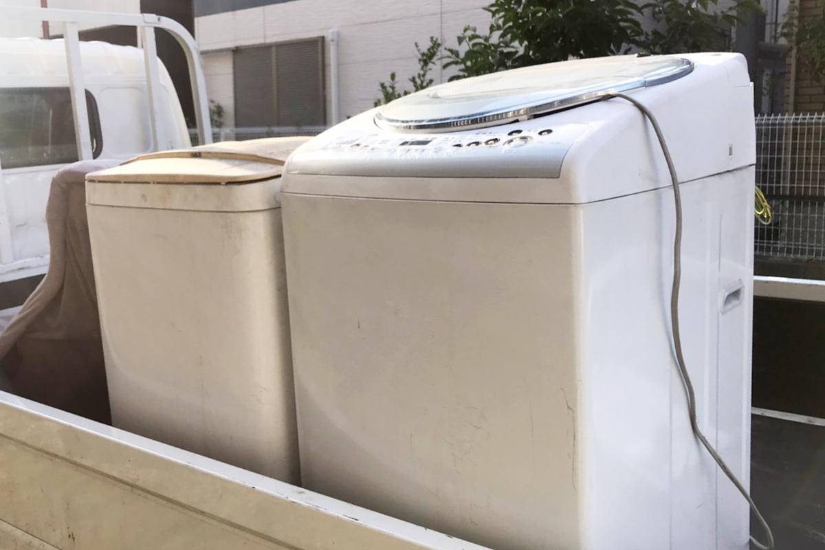 大阪府松原市にて回収した洗濯機の写真