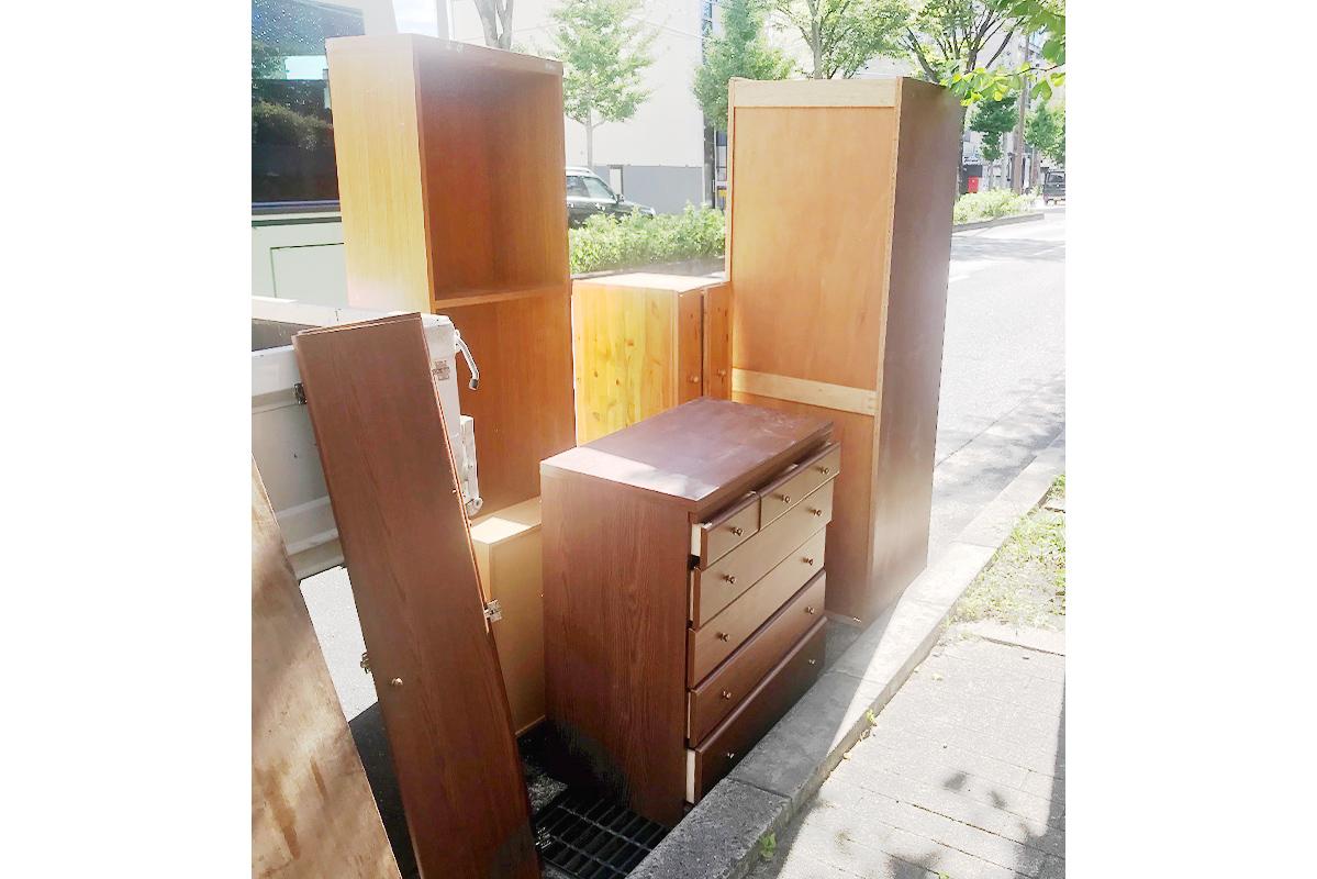 京都市左京区にて回収したタンスの写真