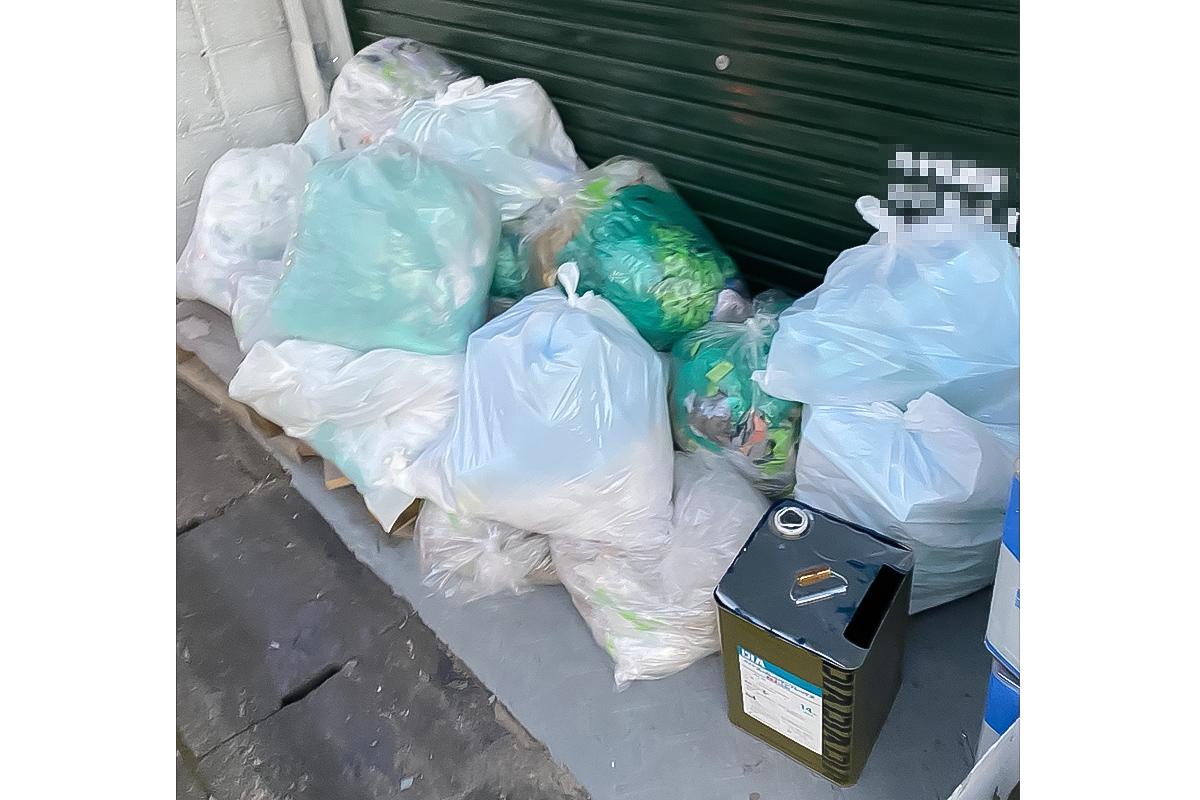 京都市右京区にて回収した産業廃棄物の写真