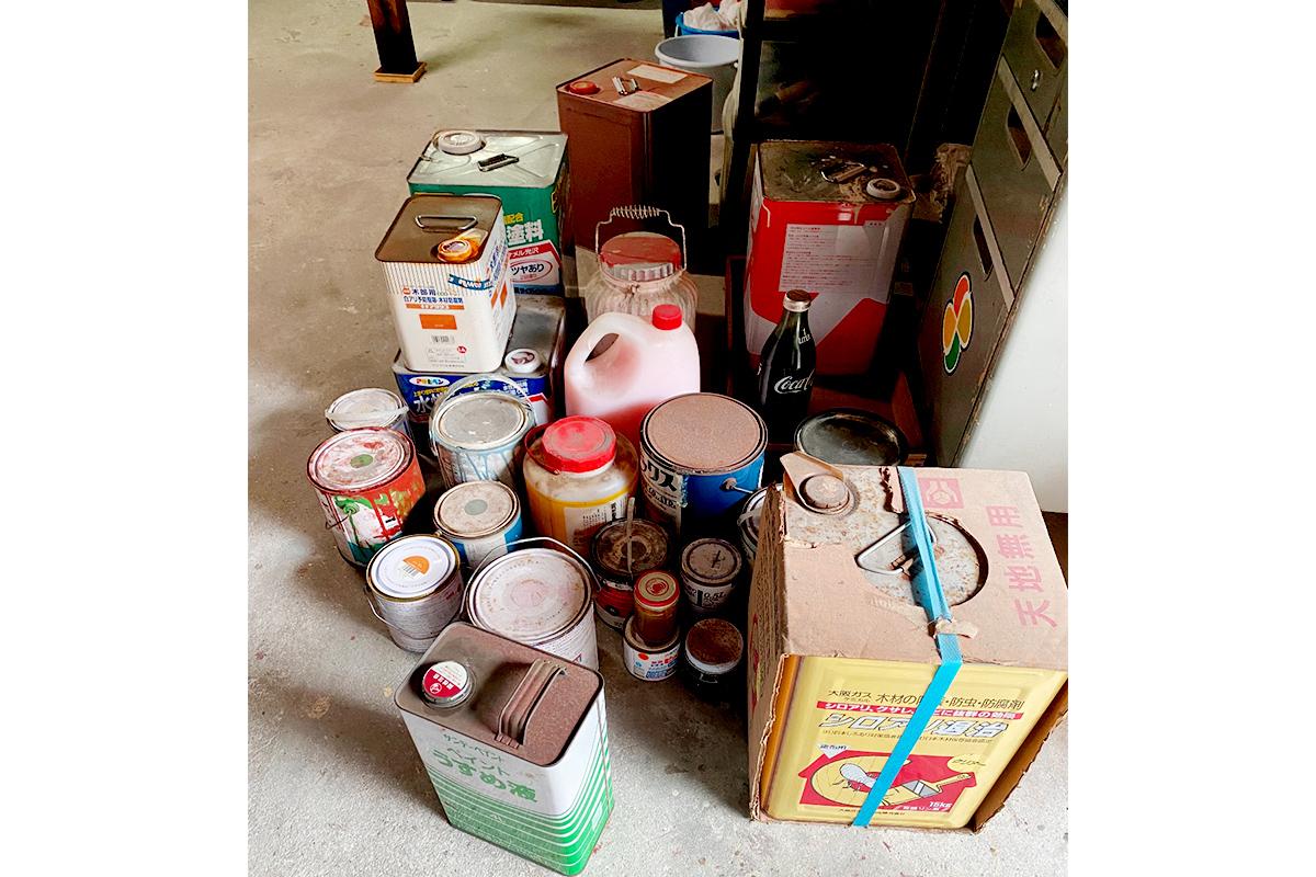 兵庫県明石市にて回収したペンキ缶の写真