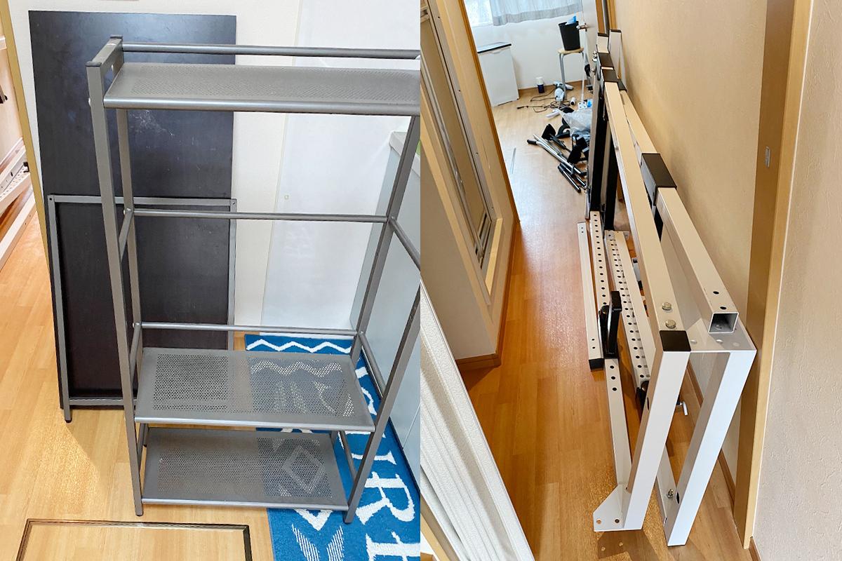 京都府宇治市にて回収したトレーニング器具や棚など不用品の写真