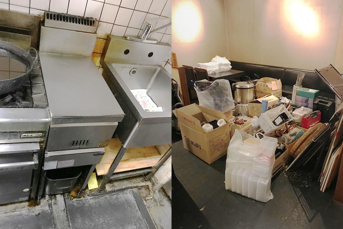 京都市中京区にて回収した店舗不用品の写真