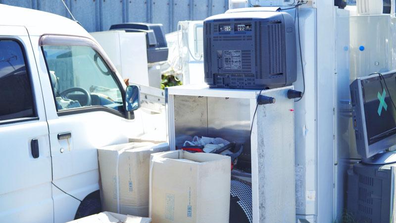 洗濯機等廃棄する家電のイメージ写真